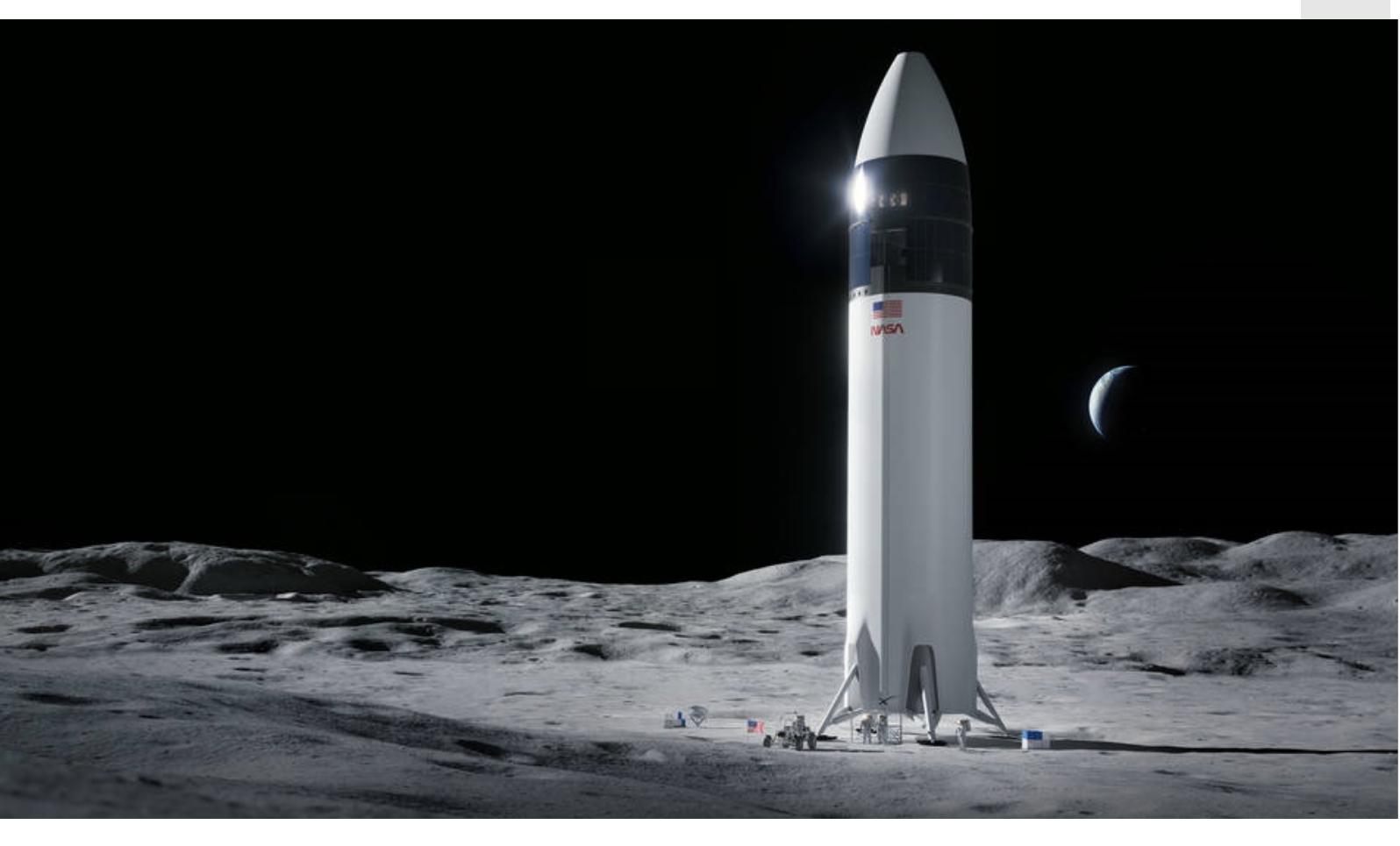 美國宇航局選擇SpaceX讓下一個美國人登上月球