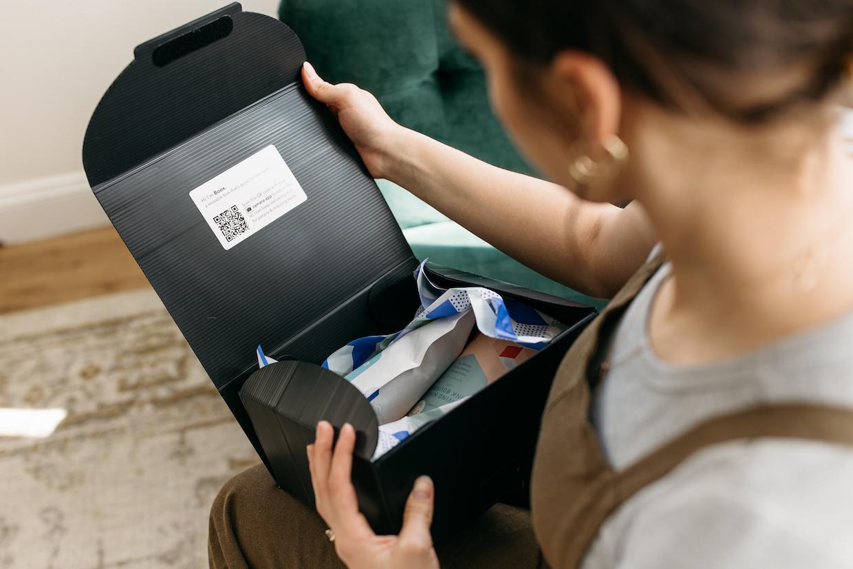 乘客咖啡和茶飛行員可重複使用的郵寄豆箱