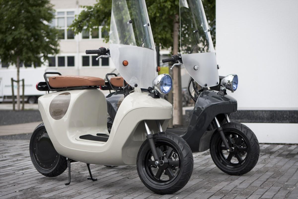 由植物製成的輕型 Be.e 踏板車