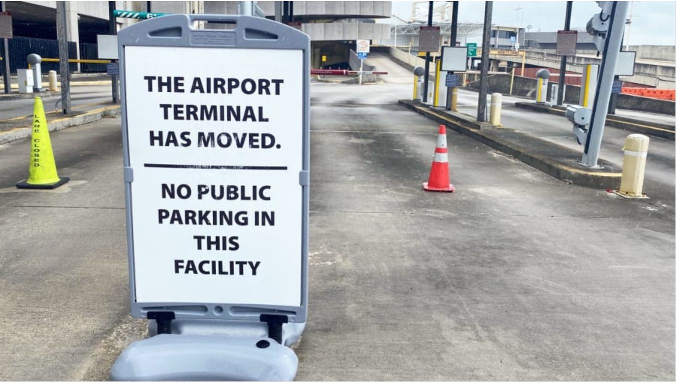 廢棄的機場航站樓