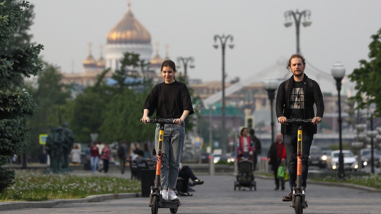 俄羅斯市中心歡迎電動滑板車