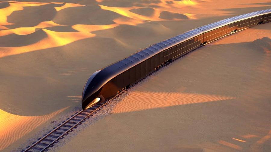 """豪華列車概念耗資3.5億美元的""""軌道上的宮殿"""""""